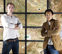 Calit2 researchers Luke Barrington and Albert Yu-Min Lin