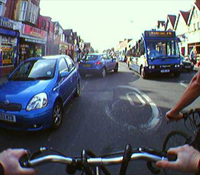 Image taken with the SenseCam from a bicycle
