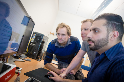 CSE Ph.D. student Jason Oberg, CSE Prof. Ryan Kastner, and postdoctoral researcher Jonathan Valamehr