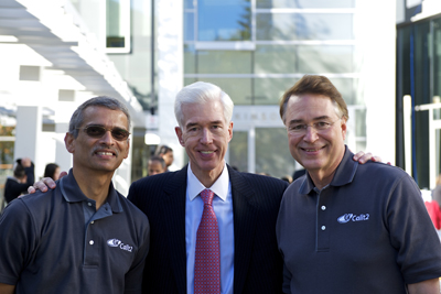 Ramesh Rao, Gray Davis and Larry Smarr