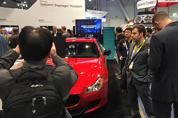 UC San Diego technology integrated into SafeShield demo on Maserati for Qualcomm at CES