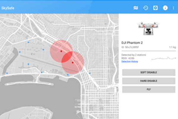 SkySafe application to track drones in airspace