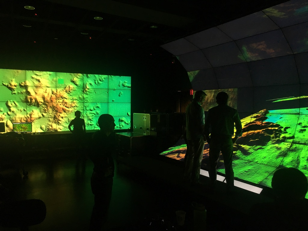 Two of the CHEI visualization displays used to visualize the LiDAR imagery