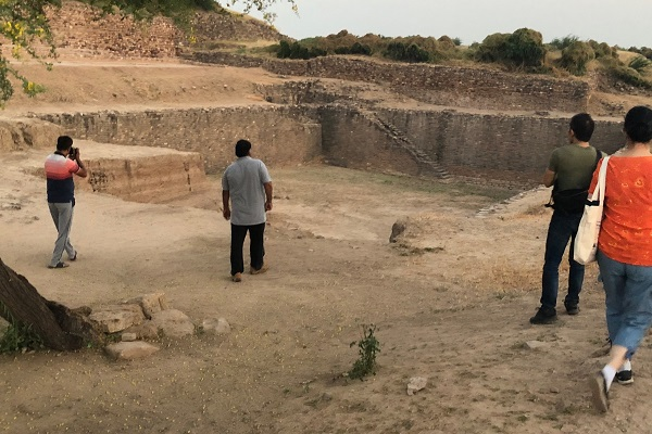 Reservoir is part of a water conservation system at Dholavira dating to the 3rd millennium BC in mod
