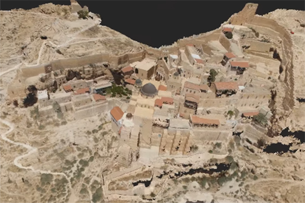 3D computer model from video of Mar Saba Monastery