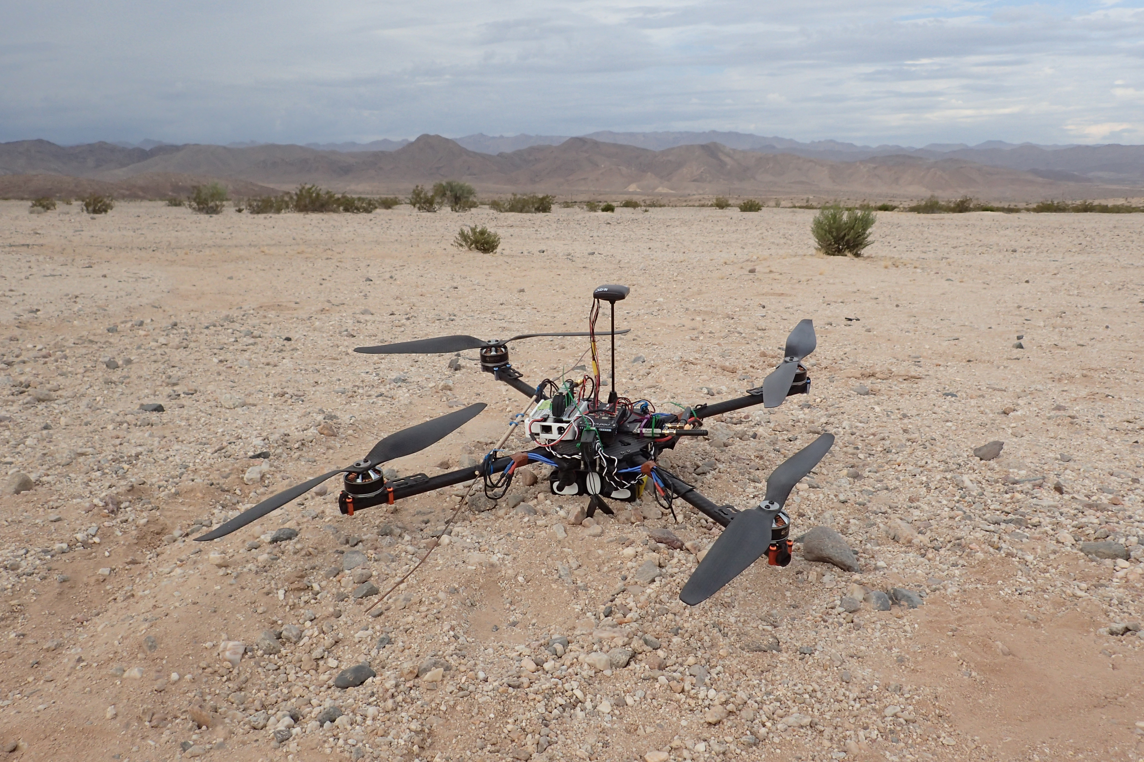 Engineers for Exploration students test UAV for Radio Collar Tracking in the Mojave Desert.