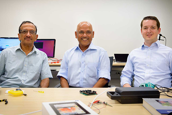 Image of three primary researchers for the Open Speech Platform