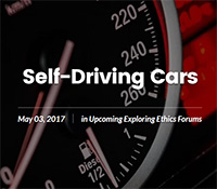 Self-Driving Cars lecture by ECE professor Mohan Trivedi at Fleet Science Center
